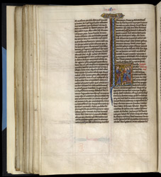 Historiated Initial With Moses Addressing The Israelites, In 'The Bible Of Robert De Bello'